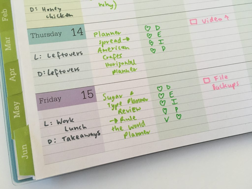 blue sky teacher planner review convert to weekly planner family blog life travel colorful rainbow lined affordable smiggle pens