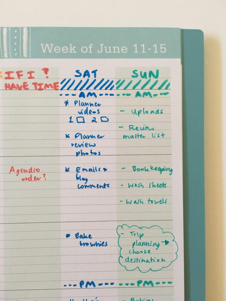 blue sky weekly planner teacher weekend lined customising planner tips ideas spread