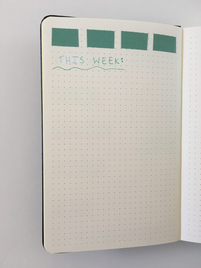 bullet journal simple pre plan weekly spread washi tape
