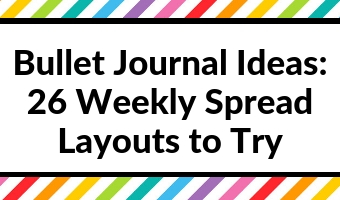 bullet journal weekly spread inspiration layouts monday start horizontal vertical hourly scheduling quick easy minimalist simple