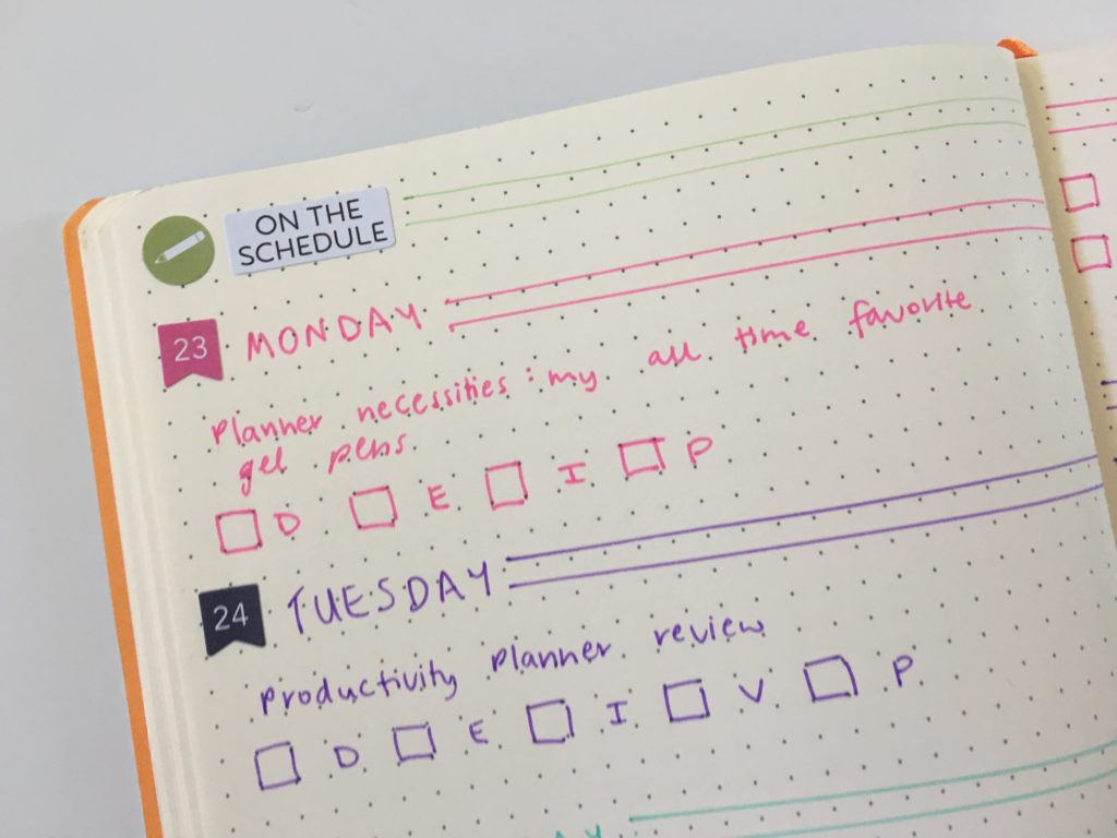 colorful bullet journal blog planning rainbow schedule monday horizontal simple quick easy functional diy