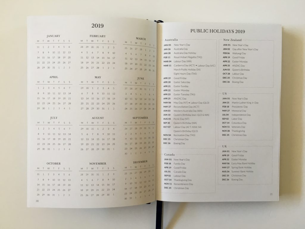 curation weekly planner dates at a glance aussie made australian pros and cons annual planning