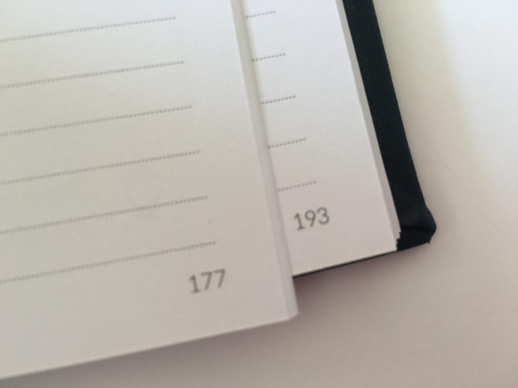 curation weekly planner numbered pages simple pros and cons minimalist horizontal 2 page spread