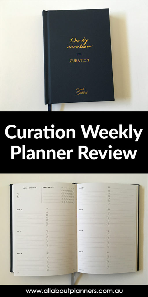 curation weekly planner review pros and cons australian made