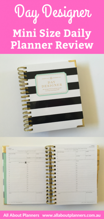 day designer daily planner review mini one page per day schedule to do list minimalist pros and cons video
