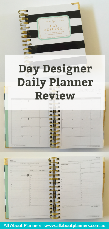 day designer daily planner review mini one page per day schedule to do list minimalist pros and cons video monthly calendar pen test