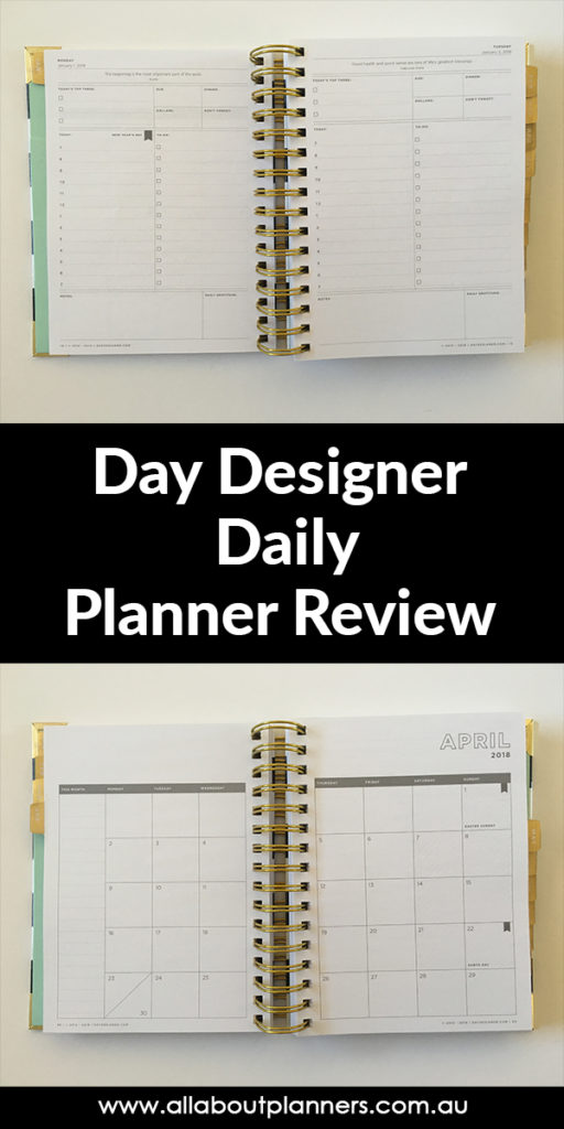 day designer daily planner review pros and cons video honest opinion
