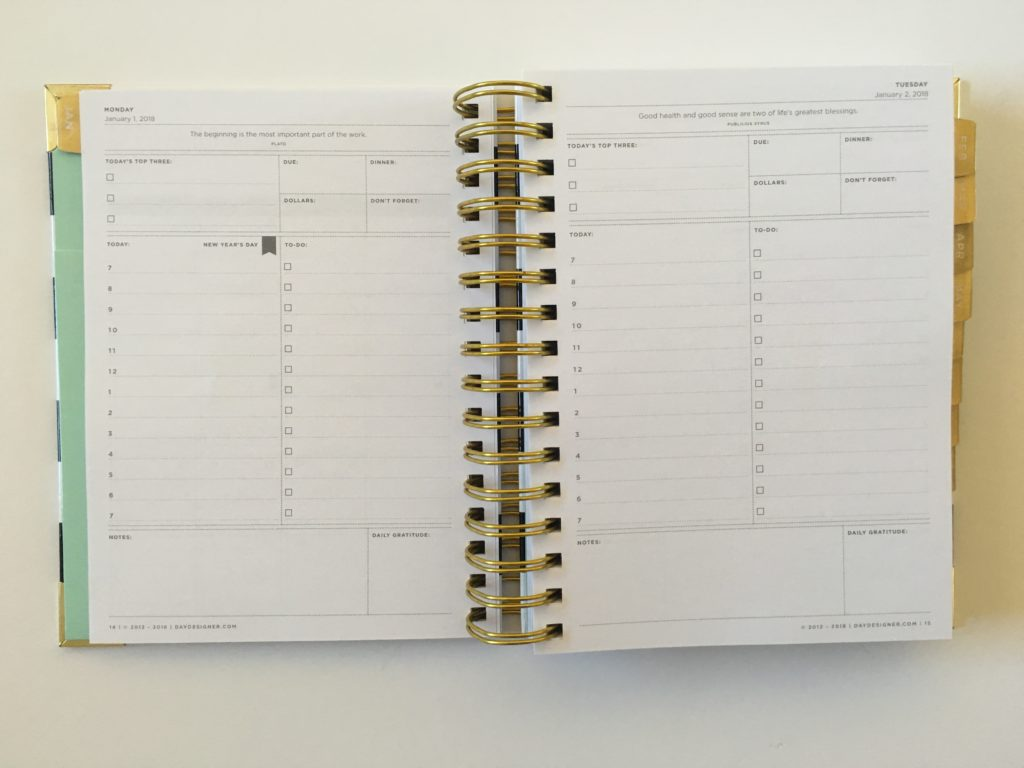 day designer mini monthly calendar pros and cons worth the money expensive cheaper alternative day to a page minimalist planner stripes gold whitney english scheduling 7am
