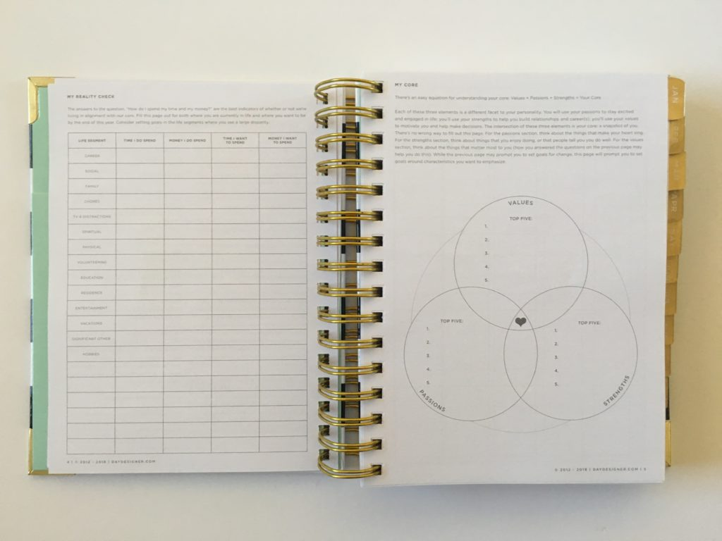 day designer planner review pros and cons whitney english goal setting mini
