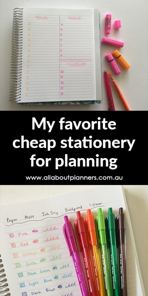 favorite planner supplies cheap brands pens colorful color coding stamps tips inspiration decorating