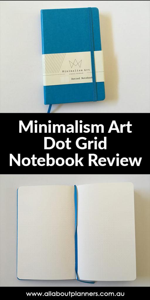 minimalism art dot grid notebook review bullet journaling supplies