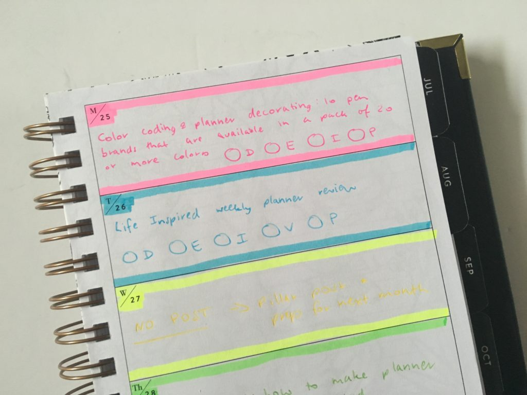 sugar and type weekly planner highlighters horizontal monday start rule the world planner