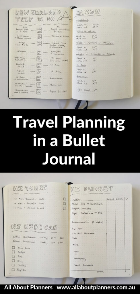 travel planning in a bullet journal tips inspiration ideas layout spreads inspo leuchtturm 1917 a5 dot grid budget