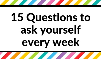 weekly review process questions to ask goal setting productivity success annual quarterly planning