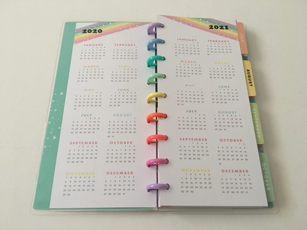 Happy planner skinny classic half sheet weekly planner horizontal rainbow stripe 12 month dated review pros and cons pen testing_04