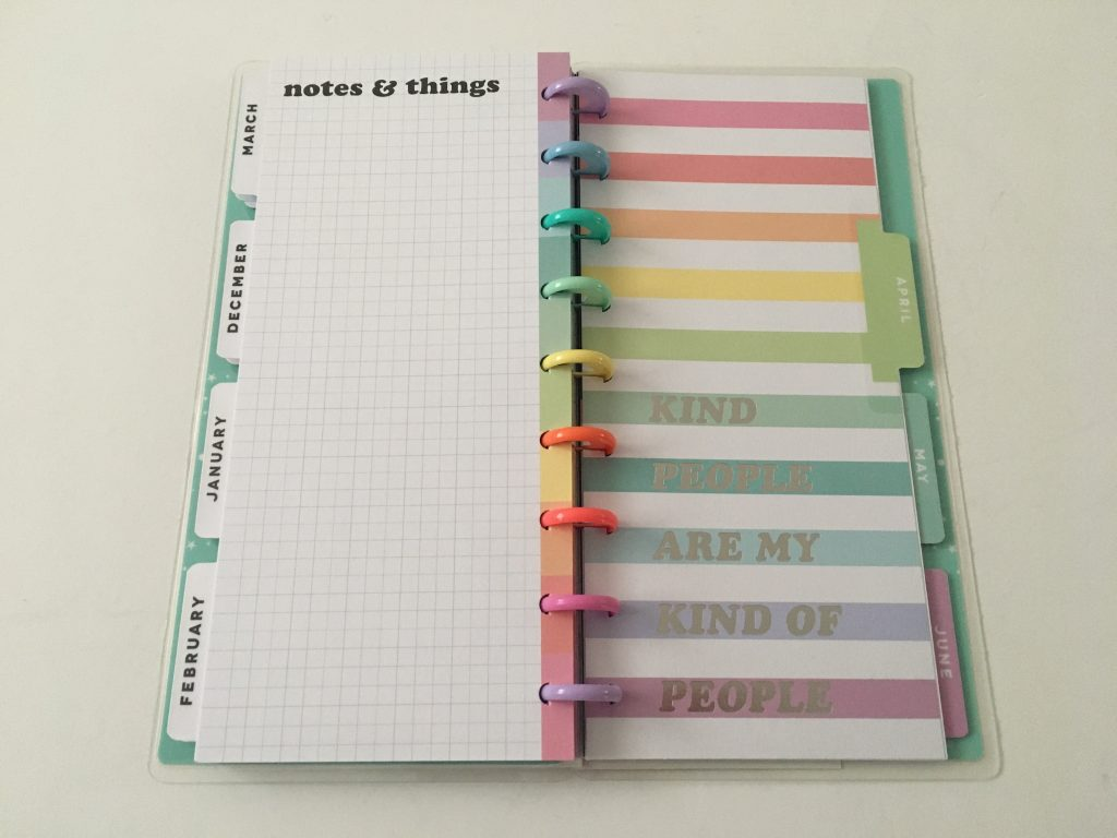 Happy planner skinny classic half sheet weekly planner horizontal rainbow stripe 12 month dated review pros and cons pen testing_10