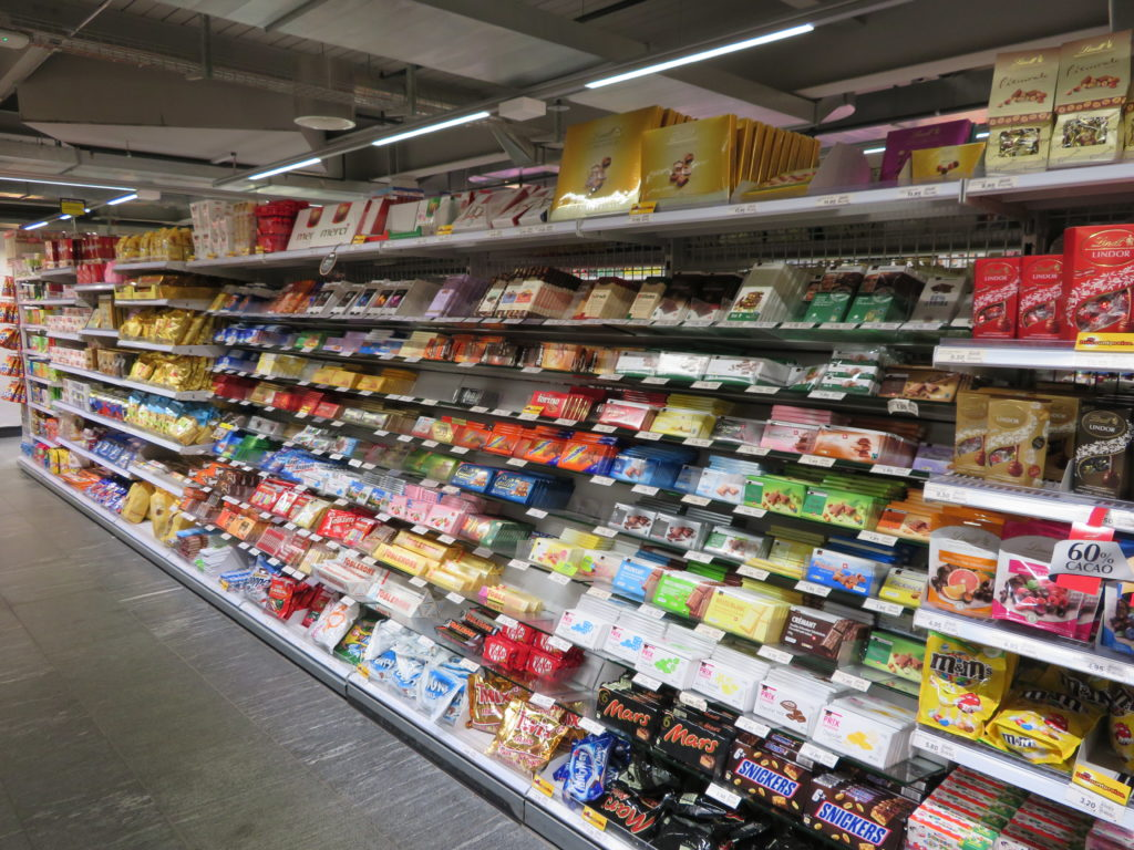 zermatt chocolate shopping switzerland denner chocolate aisle favorite things to see and do