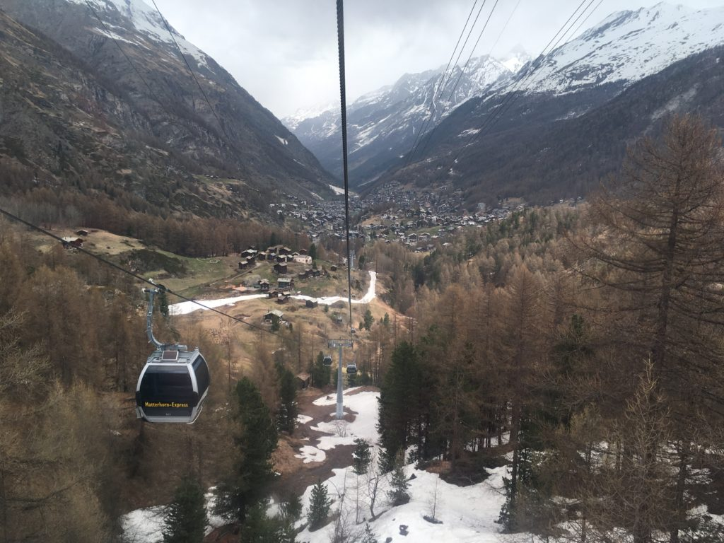 matterhorn glacier paradise zermatt switzerland in spring may cable car