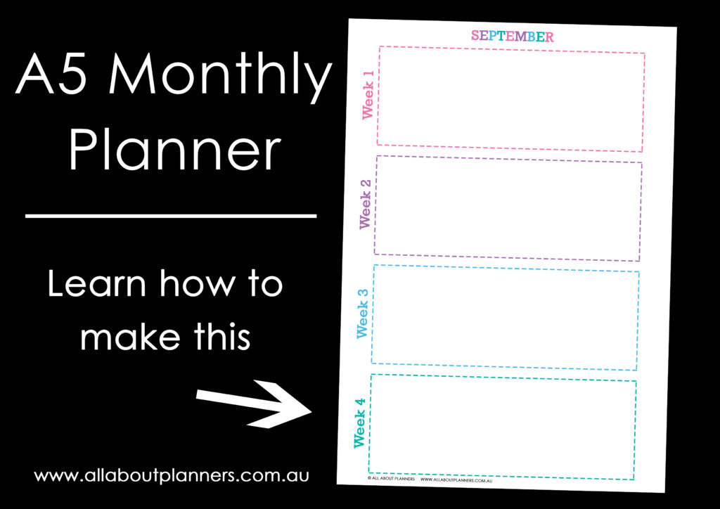 a5 monthly planner calendar tutorial diy video how to make your own