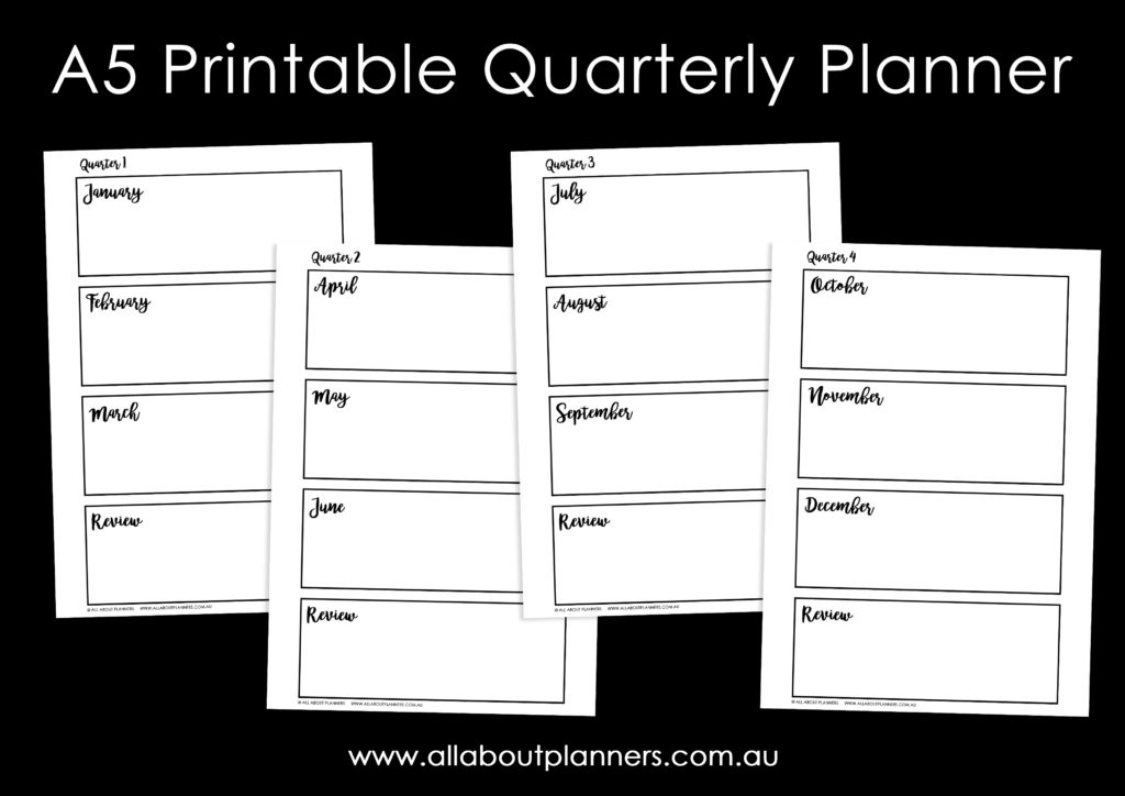 a5 printable quarterly planner editable tutorial how to make in photoshop video tutorial