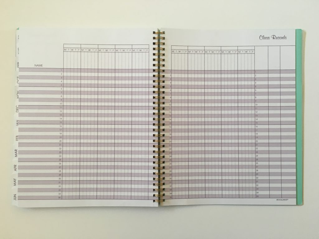 at a glance teacher planner lesson attendance record grade book cheaper alternative to erin condren