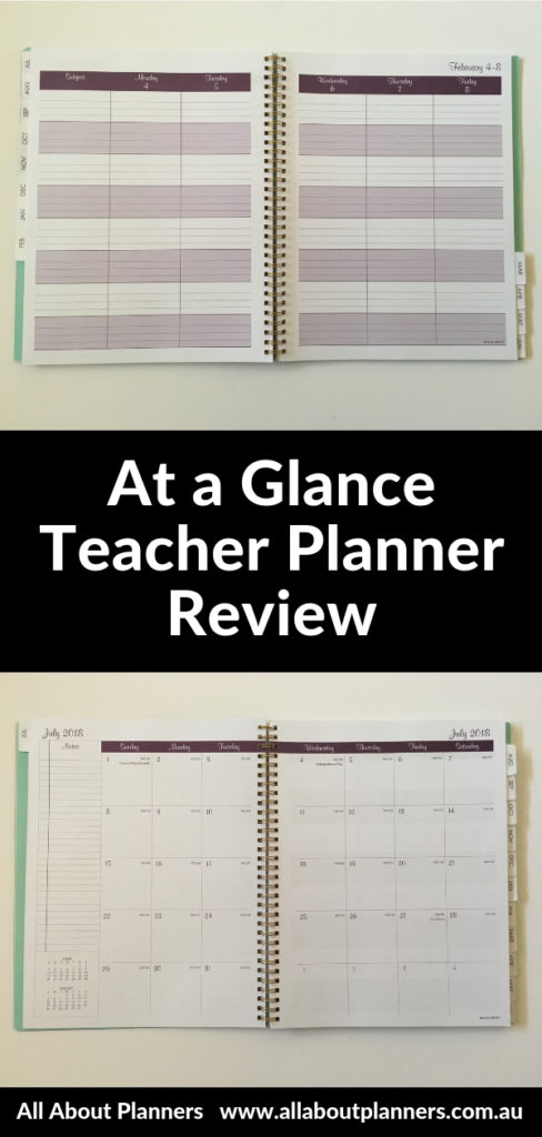 at a glance teacher planner review pros and cons video cheaper alternative to erin condren plum paper