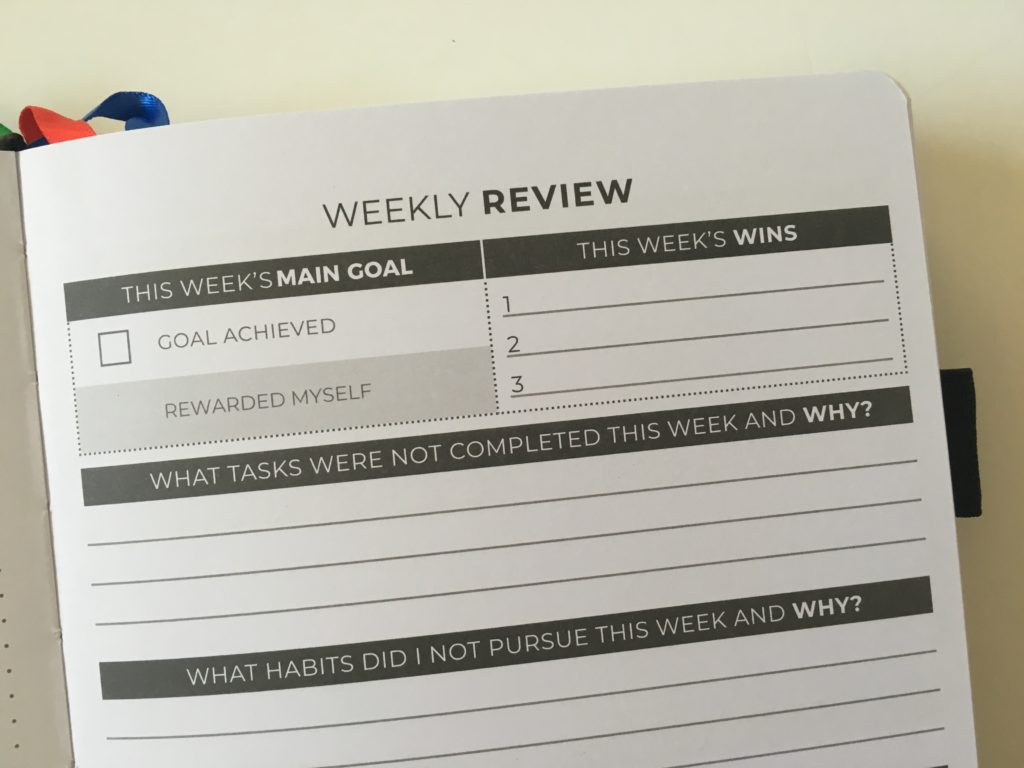 clever fox daily planner review weekly review questions overview day to a page schedule dot grid notebook sewn bound
