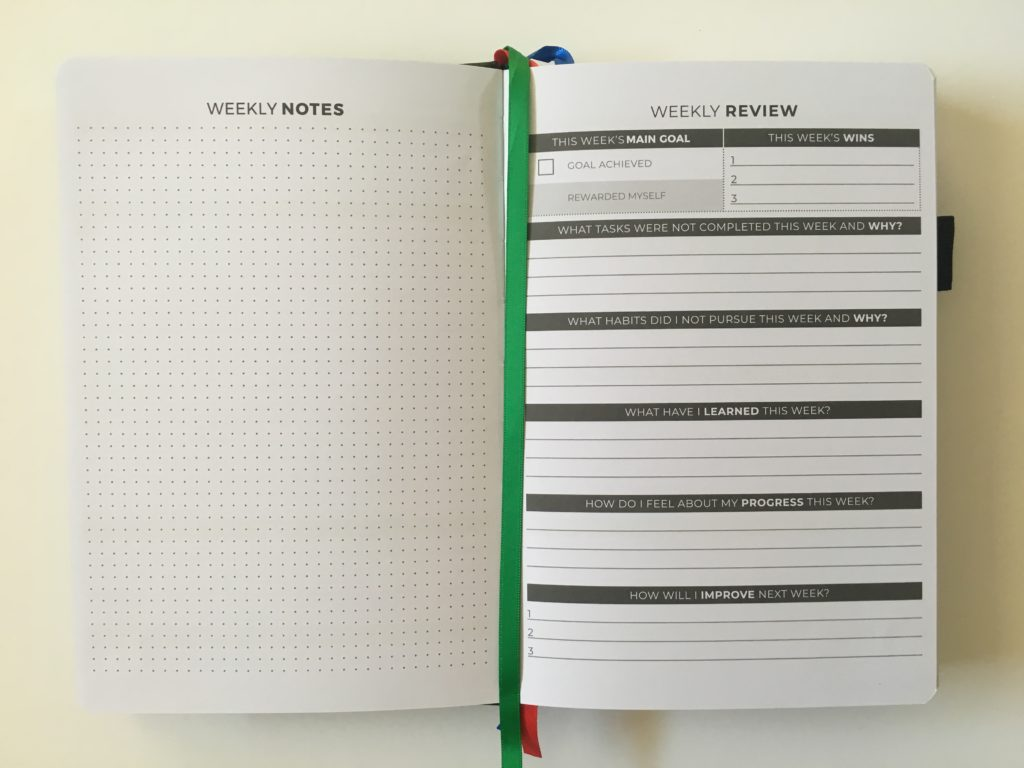 clever fox daily planner weekly review neutral questions minimalist goals pros and cons video