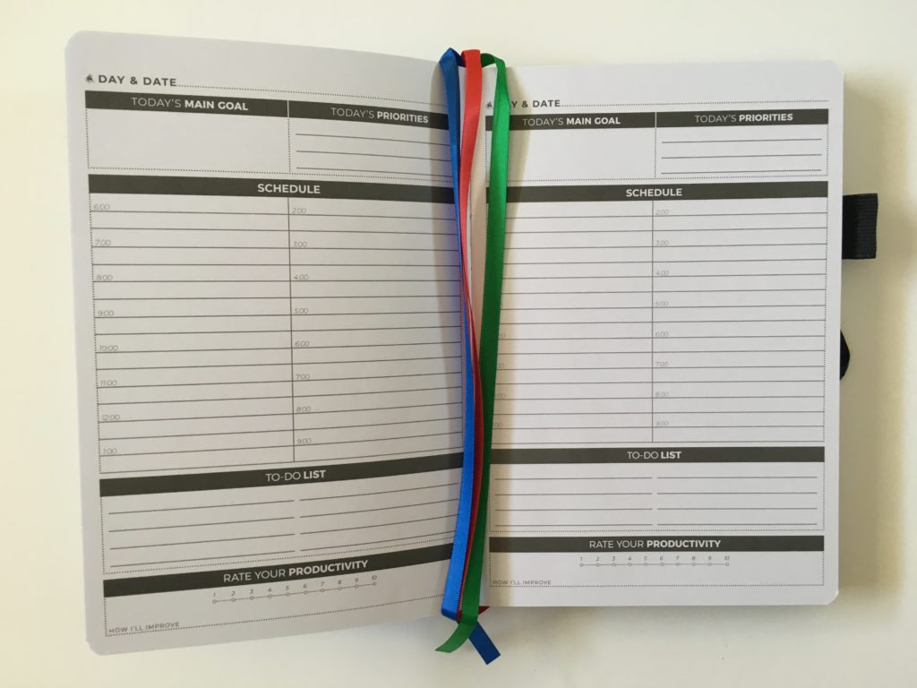 clever fox day to a page planner review daily schedule 6am lined productivity goals must do