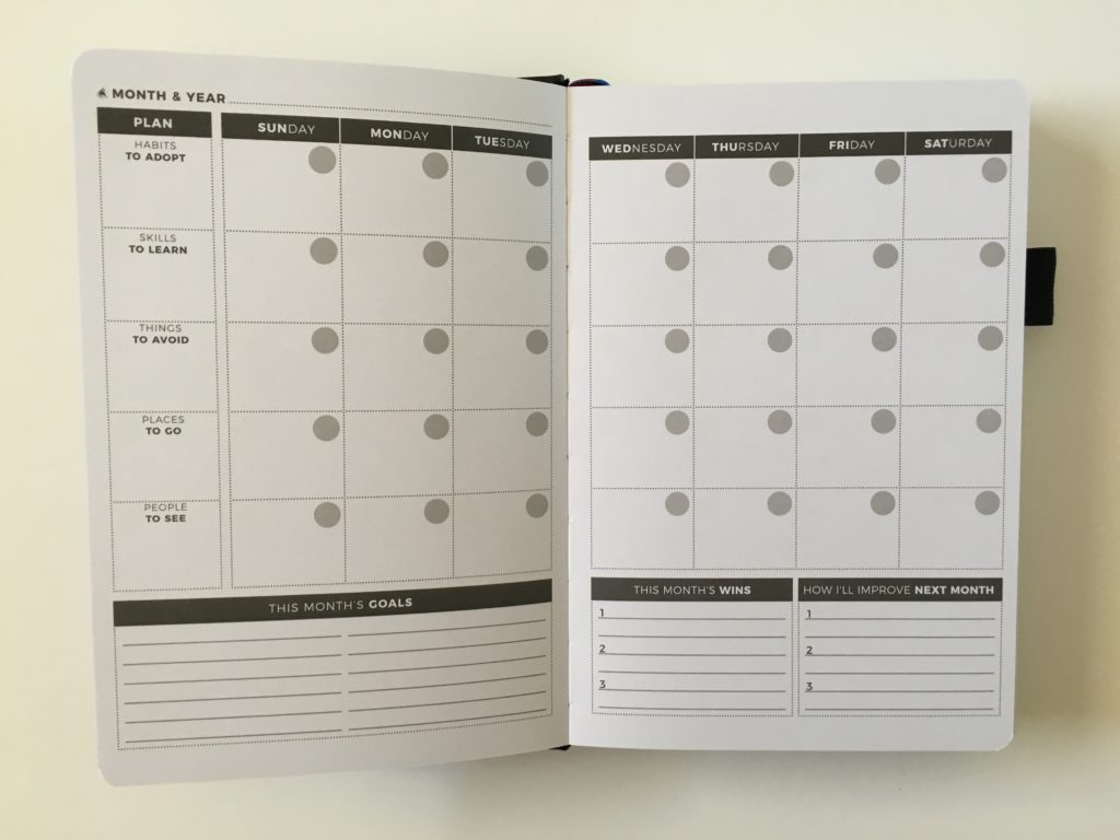 clever fox weekly planner review monthly calendar undated sunday start minimalist goals lined checklist sewn hardcover