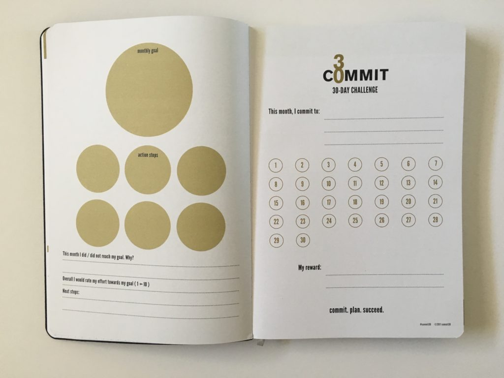 commit 30 habit planner review pros and cons weekly spread gender neutral productivity goal setting