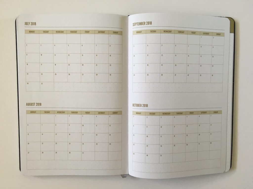 commit 30 planner review monthly calendar 2 page monday start gender neutral vertical hourly 2 page weekly spread notes annual calendar