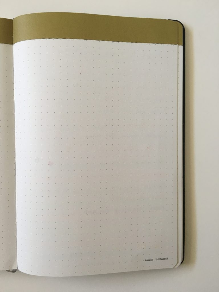 commit 30 planner review pen test bleed through ghosting paper quality worth the cost