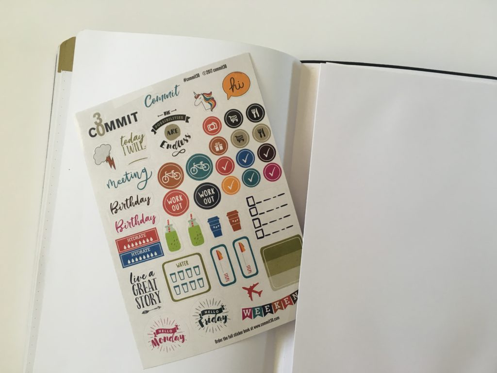 commit 30 planner review stickers icons pocket folder