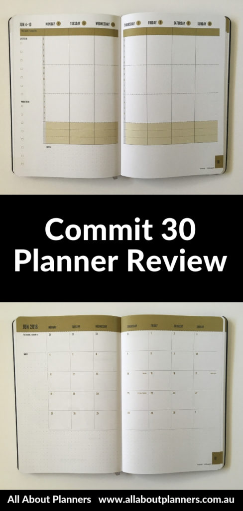 commit 30 planner review weekly hourly habits gender neutral pros and cons video