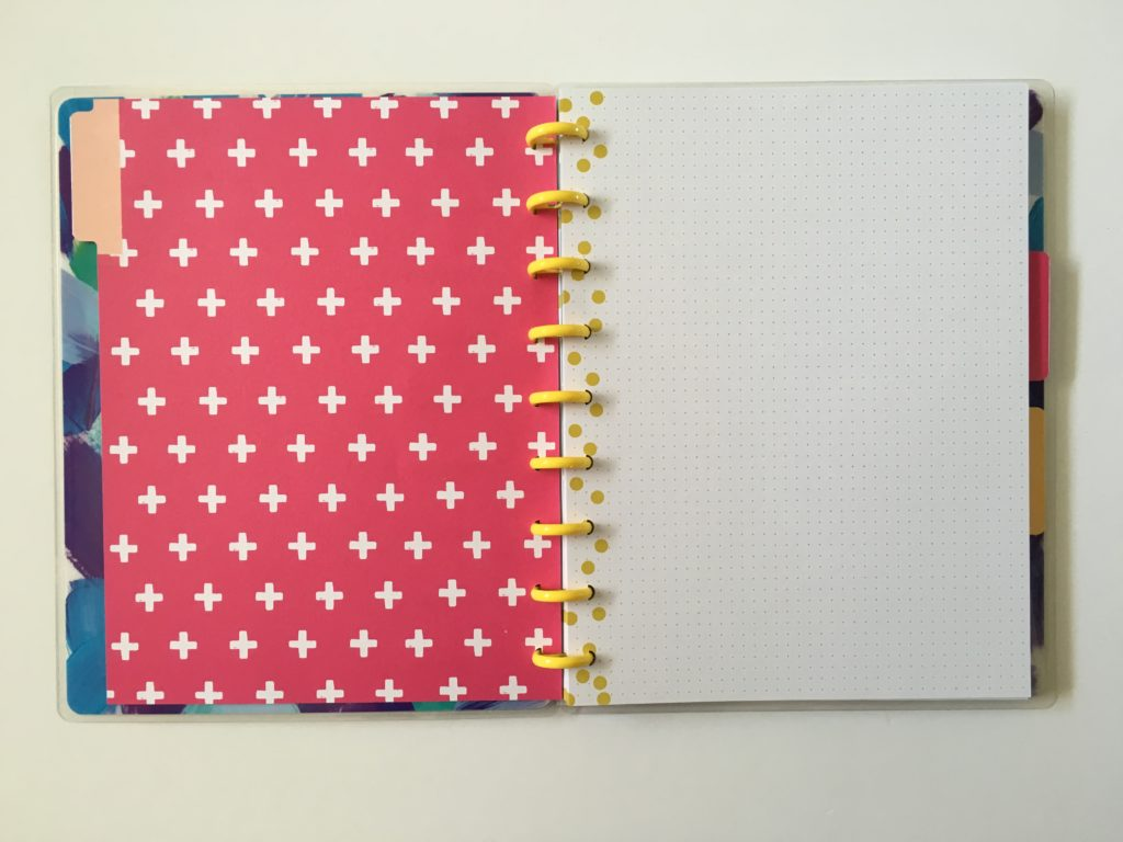 cute discbound planner for bullet journaling happy planner happy notes dot grid medium page size tabs
