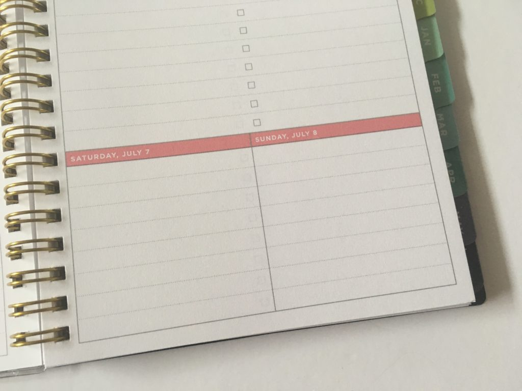 day designer for blue sky a5 size planner mini weekends combined monday start lined writing space