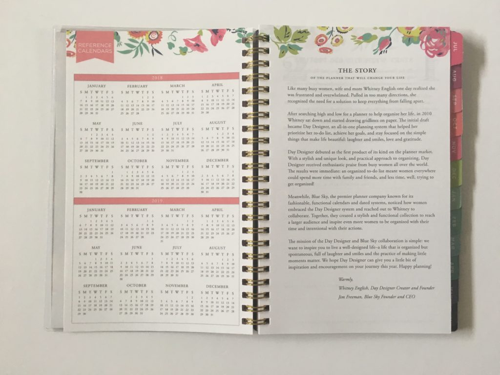 day designer for blue sky mini planner review cheap affordable colorful floral academic year