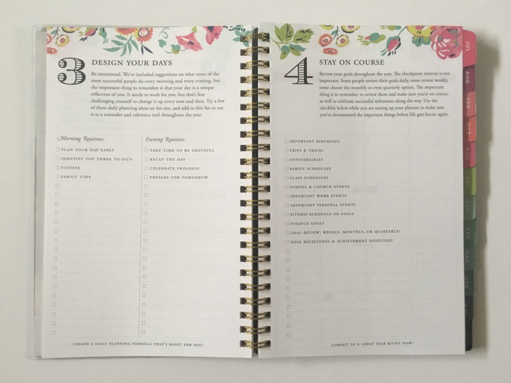 day designer for bluesky collab planner horizontal checklist lined academic student cheap affordable alternative floral