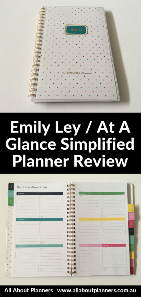 emily ley simplified planner at a glance rainbow a5 size horizontal week on 2 pages monday start pros and cons video