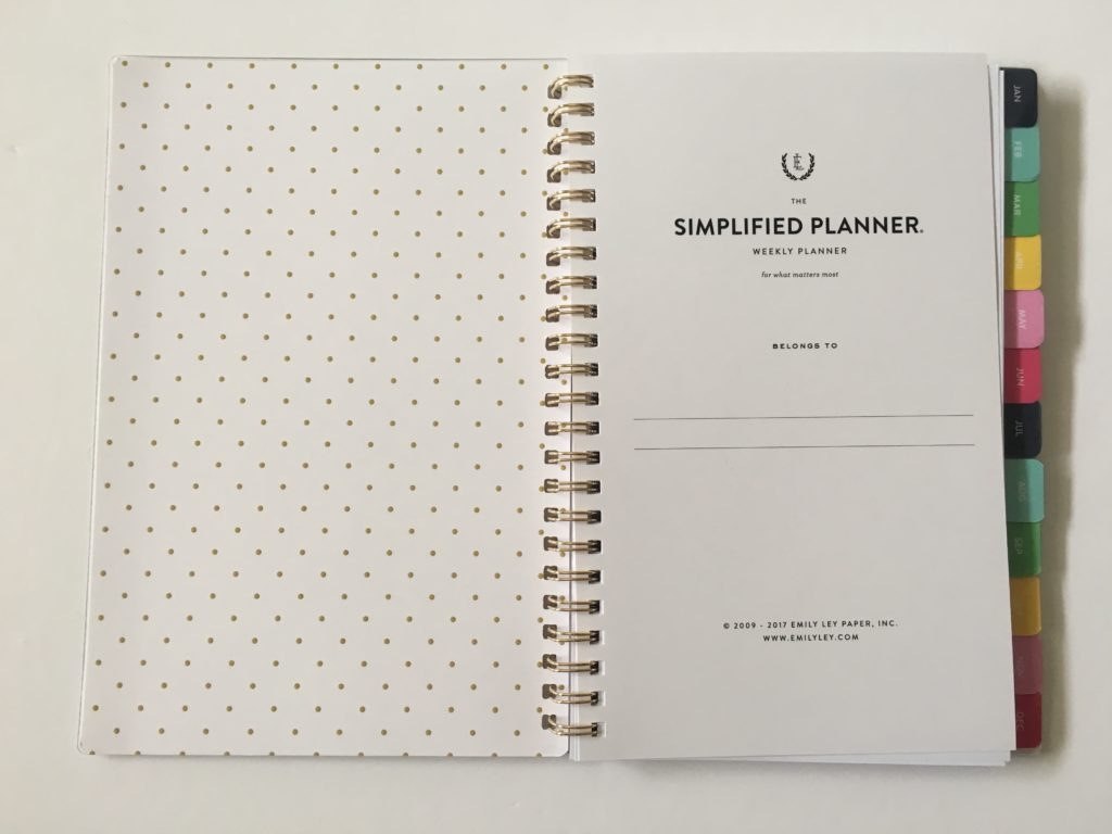 emily ley simplified planner review pros and cons small page size