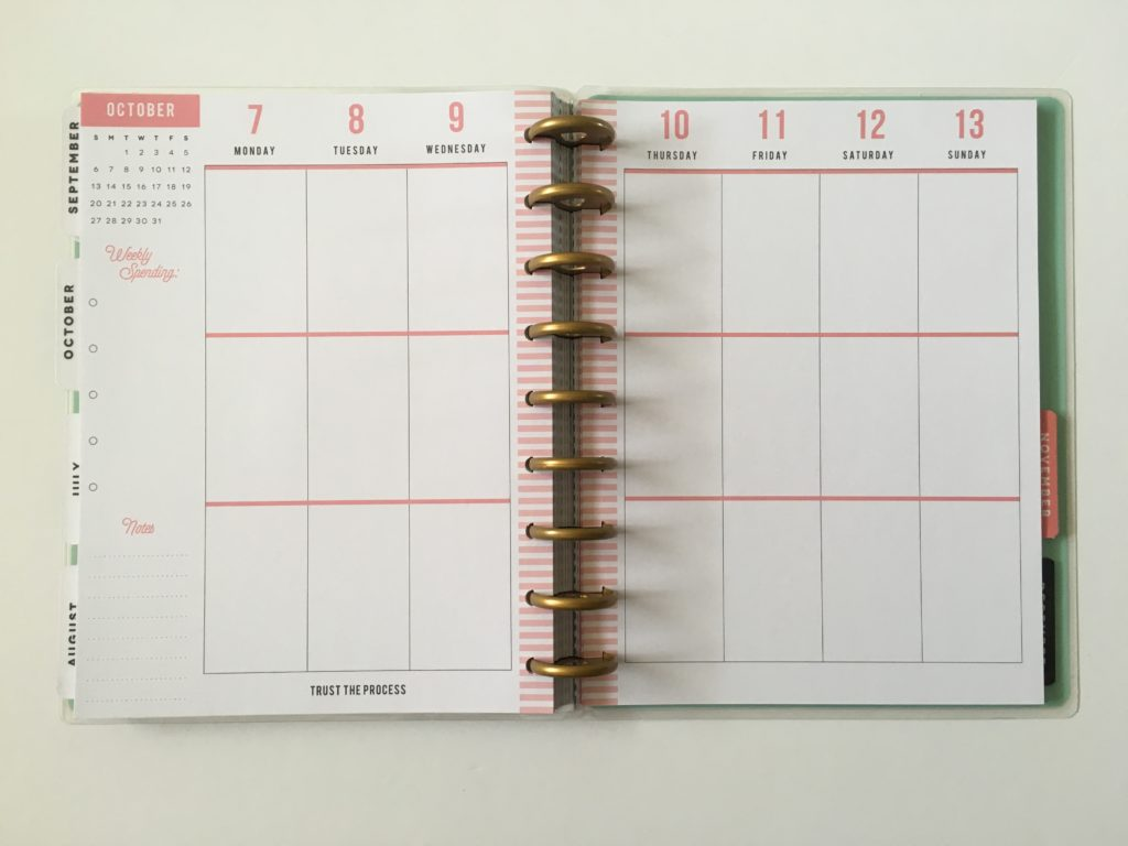 happy planner budget book vertical spending budget review pros and cons monday start week 3 sections discbound