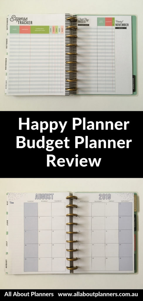 happy planner budget planner review pros and cons video monthly weekly 2019