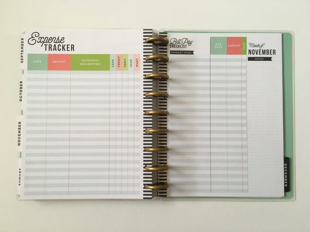 happy planner discbound system pros and cons expense bill tracker colorful