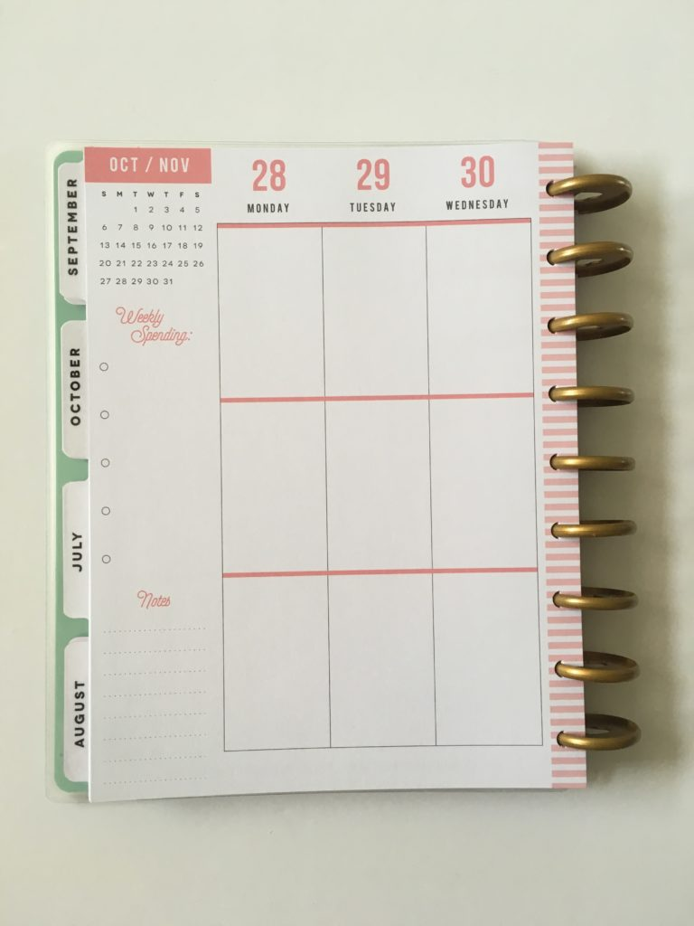 happy planner mambi budget notebook vertical 3 sections per day monday week start pros and cons