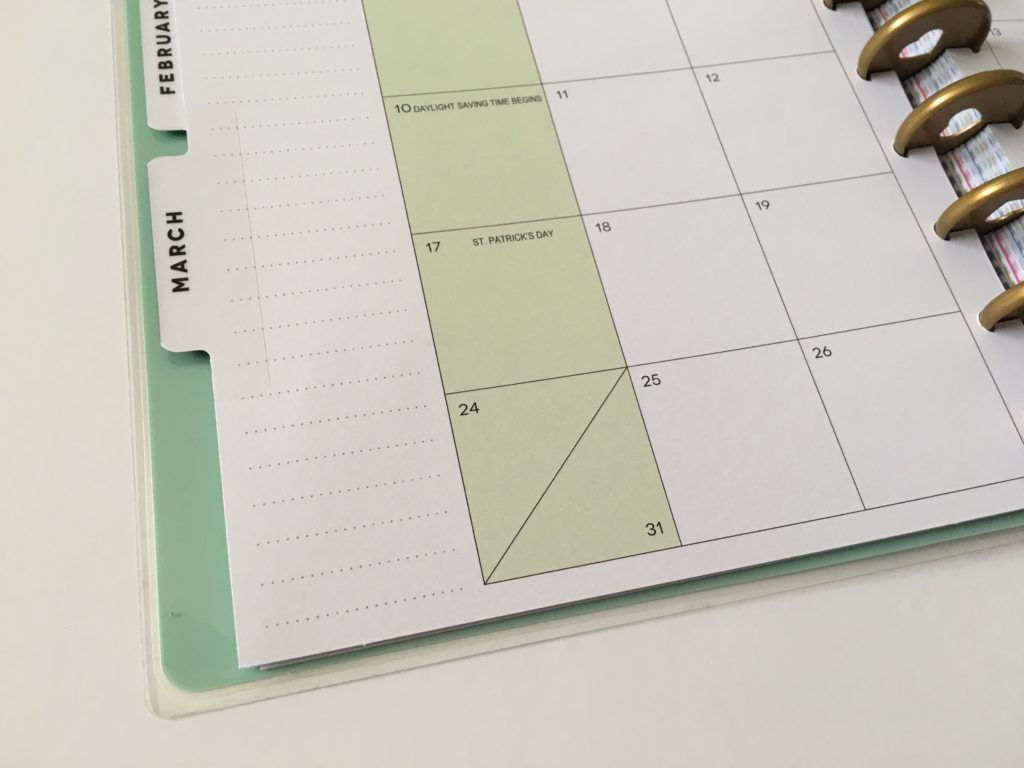 happy planner monthly calendar pros and cons video review honest