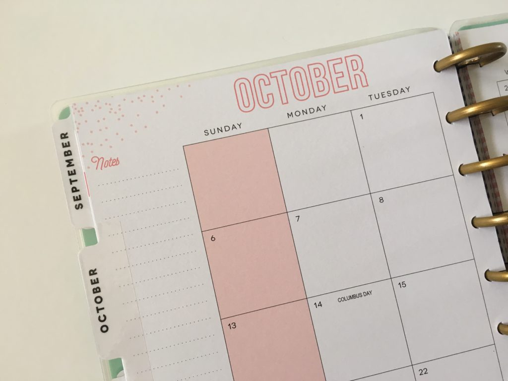 happy planner monthly calendar review pros and cons discbound system