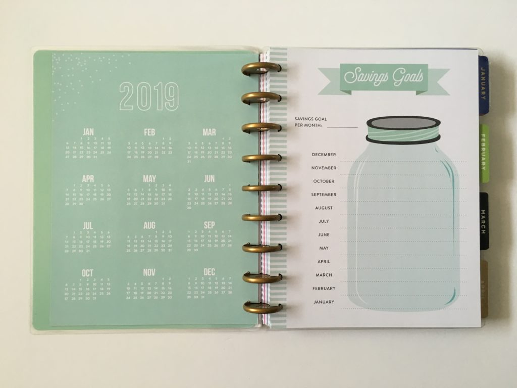 happy planner review pros and cons budget vertical monday start savings goals dates at a glance