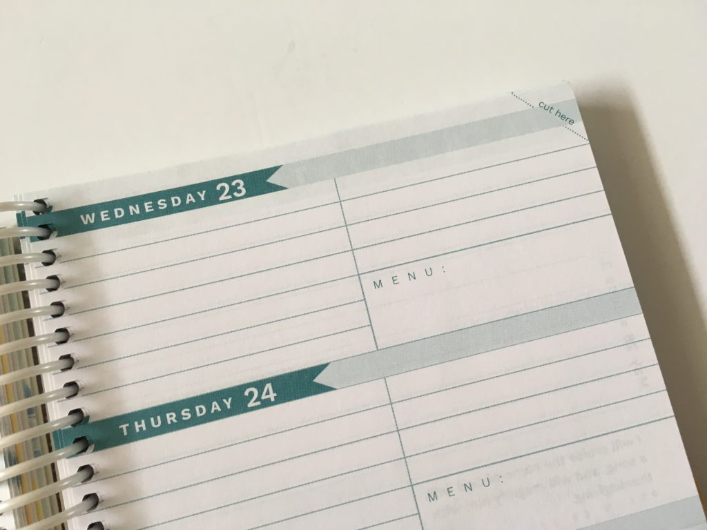 homemakers friend sue hooley weekly planner review pros and cons video walkthrough tabs agenda organizer horizontal 2 sections per day 2 page weekly spread monday start