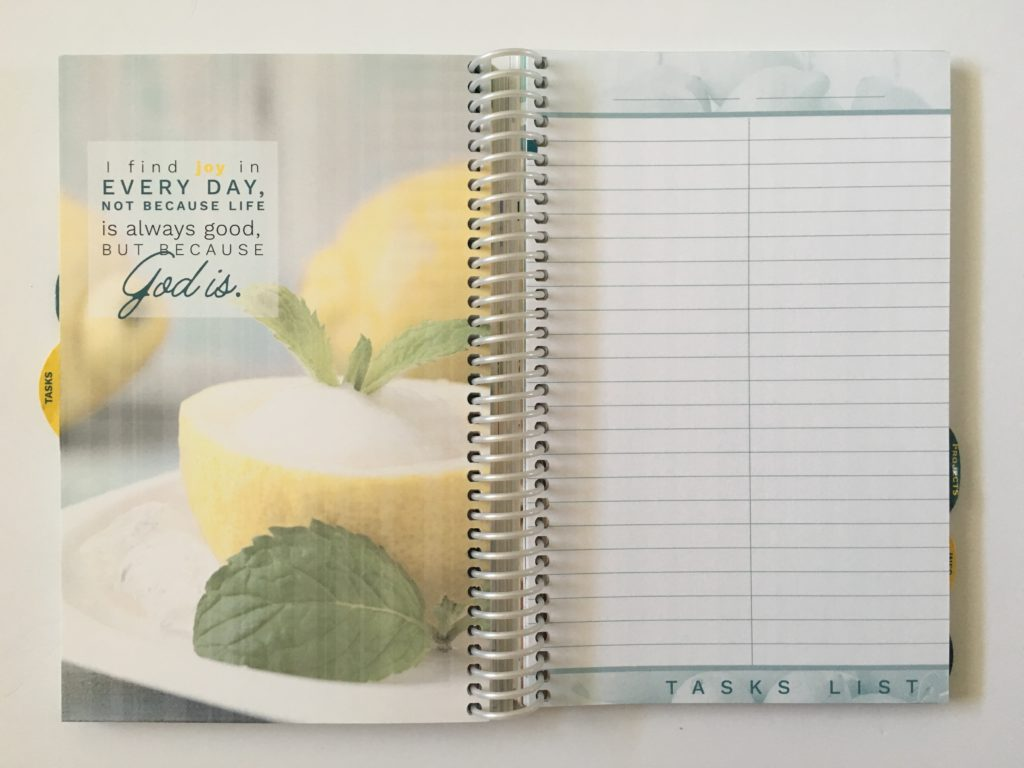 homemakers friend sue hooley weekly planner review pros and cons video walkthrough tabs agenda organizer task list to do notes grocery list checklist